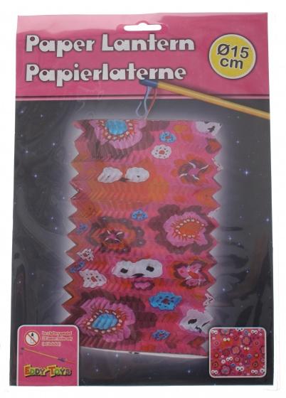 Eddy Toys lampion uilen papier 15 cm