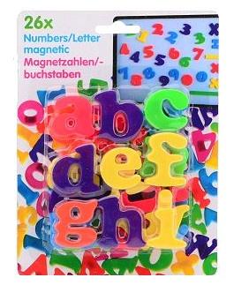Eddy Toys letters magnetisch 26 stuks