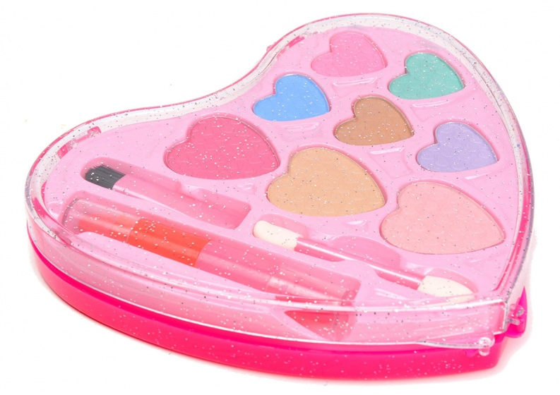Eddy Toys make up case hartvorm roze 11 delig