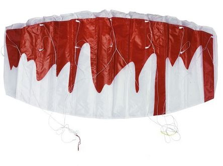 Eddy Toys Matrasvlieger rood wit 10 x 120 x 55 cm
