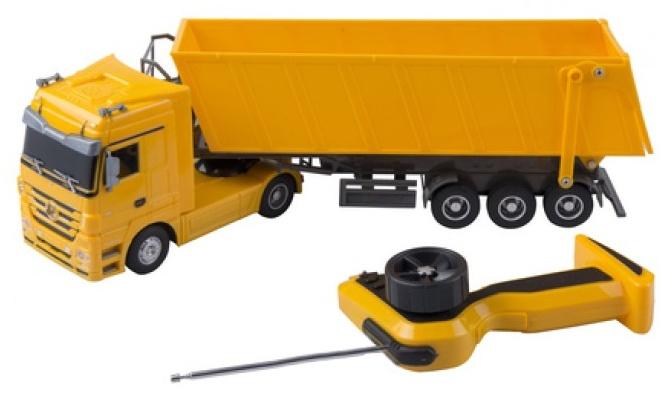 Eddy Toys Mercedes Benz RC vrachtwagen 1:32 geel