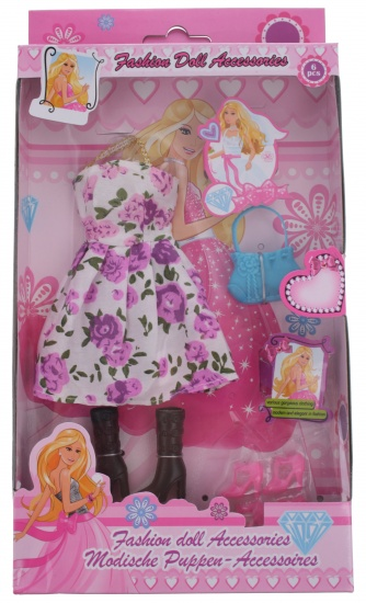 Eddy Toys Modepop accessoires paars
