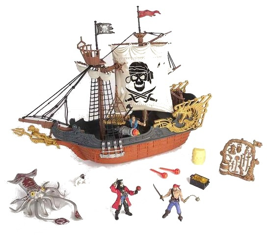 Eddy Toys Piratenschip Multicolor 13 delig