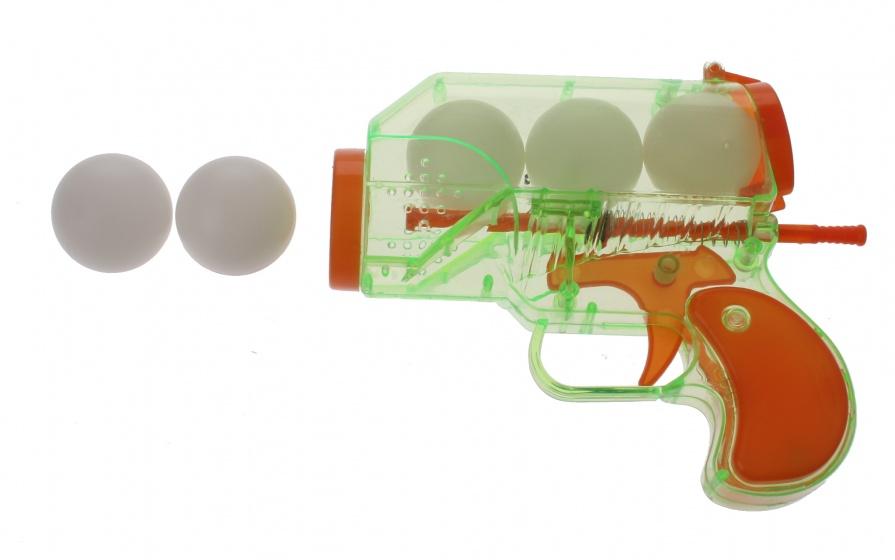 Eddy Toys Pistool met 5 ballen 6 delig 14 cm groen