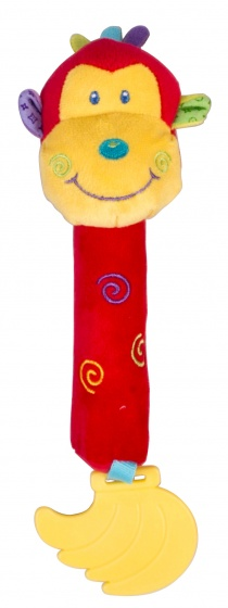 Eddy Toys pluche rammelaar aap 19 cm