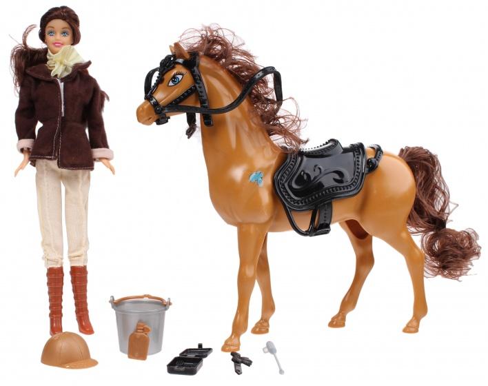 Eddy Toys Pop En Paard 29 Cm Bruin
