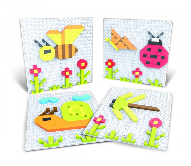 Eddy Toys puzzelkunst Insecten 11 x 11 cm junior 301 delig
