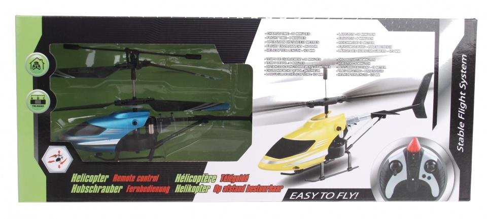 Eddy Toys RC helikopter blauw kunststof 17 cm
