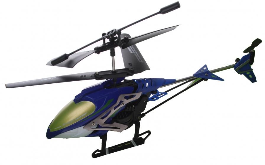 Eddy Toys RC helikopter blauw kunststof 21 cm