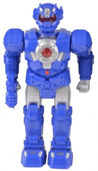 Eddy Toys robot speelfiguur blauw 38 cm