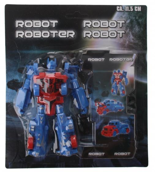 Eddy Toys robot Transform blauw 11,5 cm