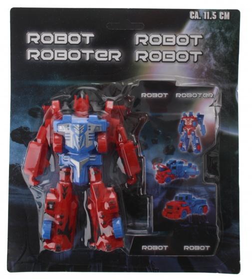 Eddy Toys robot Transform rood 11,5 cm