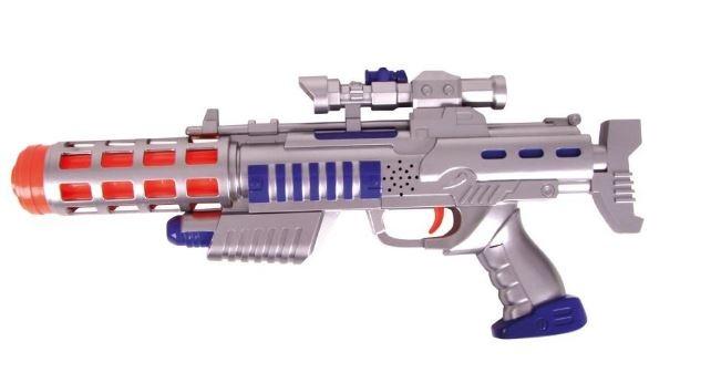 Eddy Toys Ruimtegeweer Grijs 45 cm