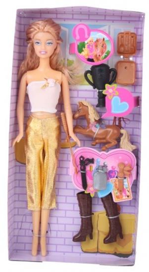 Eddy Toys Ruiterpop 8 delig goud roze