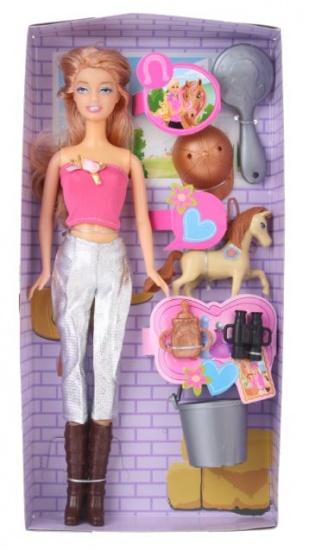 Eddy Toys Ruiterpop 8 delig zilver roze