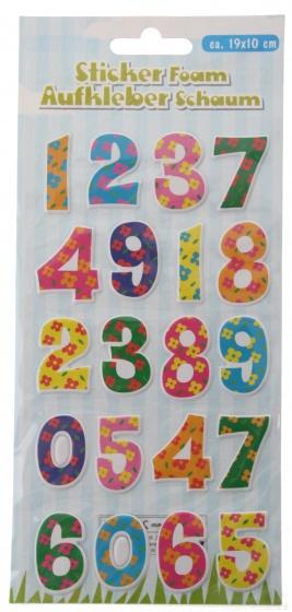 Eddy Toys stickervel letters met 20 schuimstickers