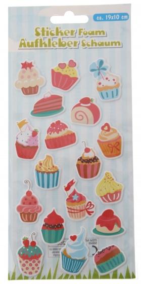 Eddy Toys stickervel cupcakes met 18 schuimstickers