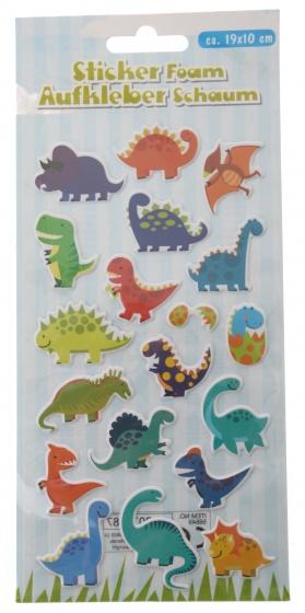 Eddy Toys stickervel dinosaurus met 19 schuimstickers