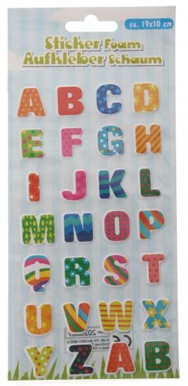 Eddy Toys stickervel letters met 28 schuimstickers