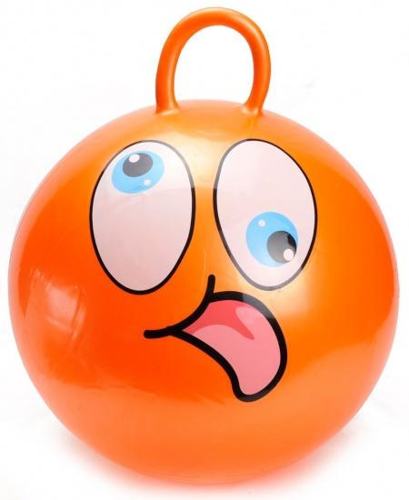 Eddy Toys Skippybal Smiley 45 cm Oranje