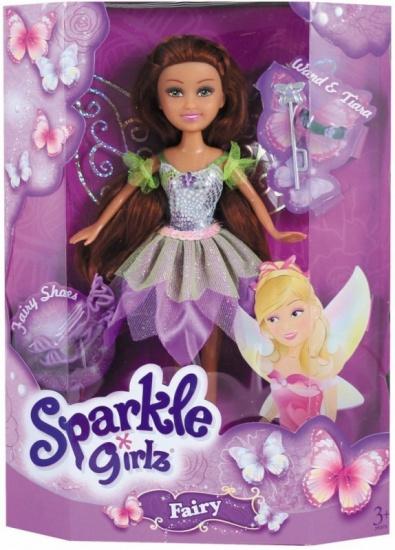 Eddy Toys Sparkle Girlz Princess Amber set 5 delig paars 27 cm