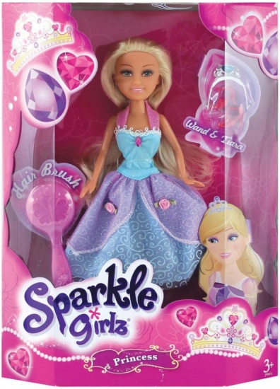 Eddy Toys Sparkle Girlz Princess Eleanora 5 delig blauw 27 cm