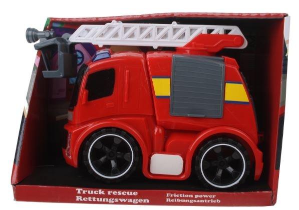 Eddy Toys Speelgoed wagen brandweer rood 15 x 10 x 23 cm