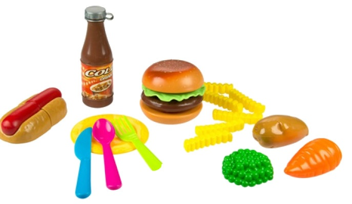 Eddy Toys speelgoedeten hamburger 20 delig