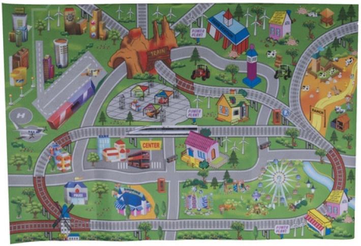 Eddy Toys verkeerskleed City 80 x 120 cm