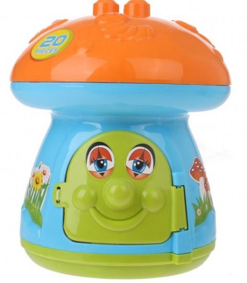 Eddy Toys Speelset Paddenstoel 20 delig oranje