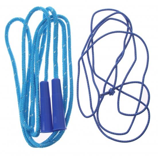 Eddy Toys springtouw blauw 200 cm 2 stuks