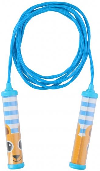 Eddy toys springtouw blauw 230 cm
