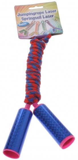Eddy Toys Springtouw disco 210 cm blauw