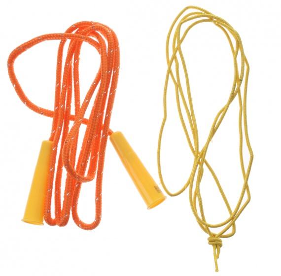Eddy Toys springtouw oranje 200 cm 2 stuks