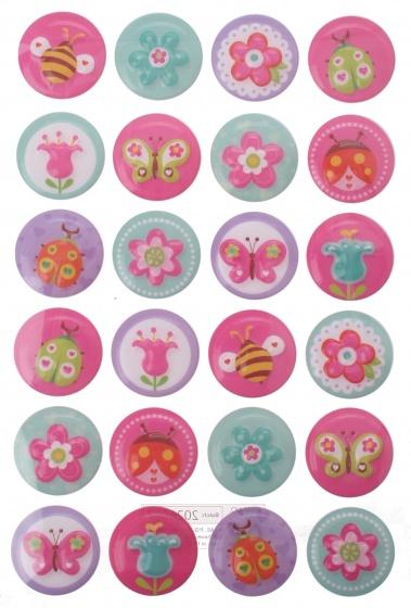 Eddy Toys stickervel insecten met 14 stickers