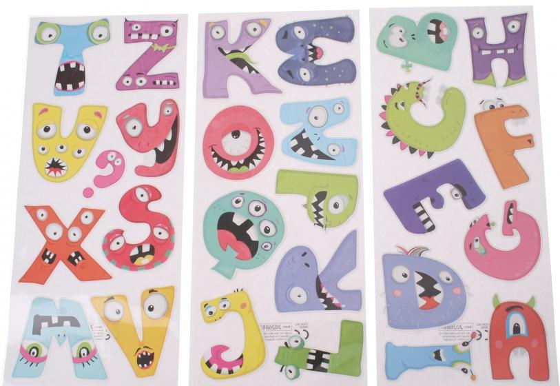 Eddy Toys stickervellen letters met 27 stickers