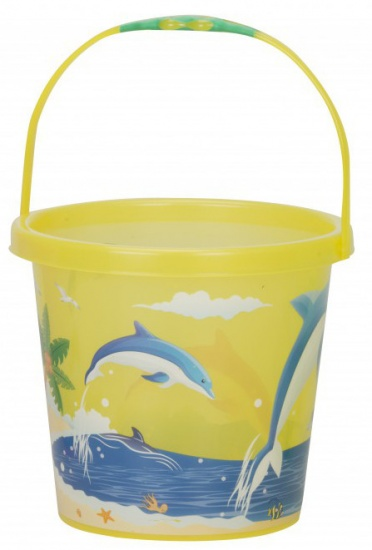 Eddy Toys Strandemmer 21 x 18,5 cm dolfijn geel