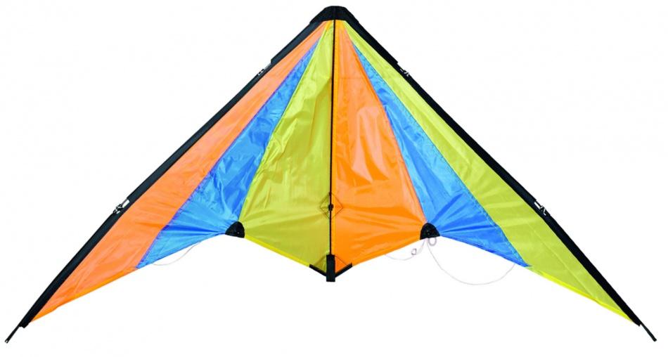 Eddy Toys Stuntvlieger 120 x 60 cm Geel / Blauw / Oranje