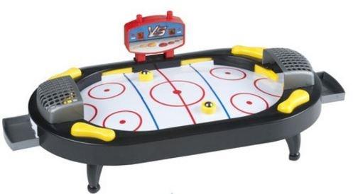 Eddy Toys Tafel airhockey 42 x 14 x 21,5 cm wit/zwart