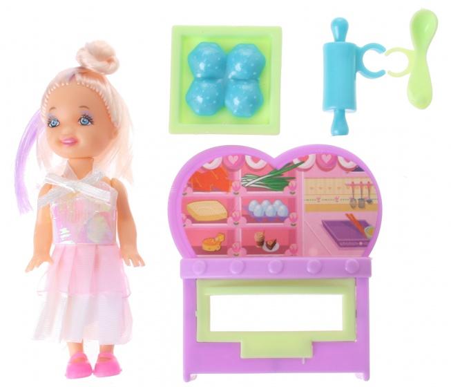 Eddy Toys tienerpop roze 9 cm 4 delig