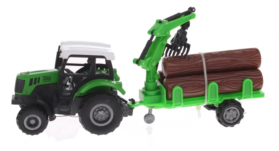 Eddy Toys Tractor met Boomstammen