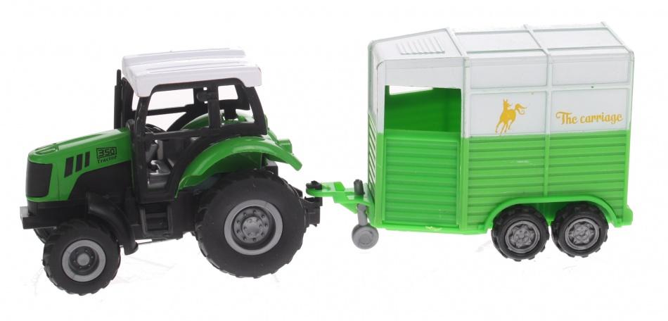 Eddy Toys Tractor met Paardentrailer
