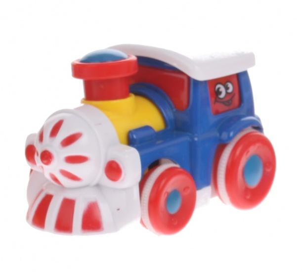Eddy Toys Trein Blauw 7,5 cm