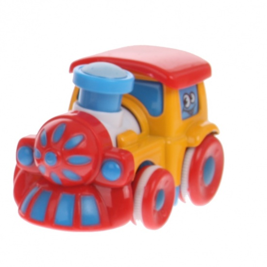 Eddy Toys Trein Geel 7,5 cm