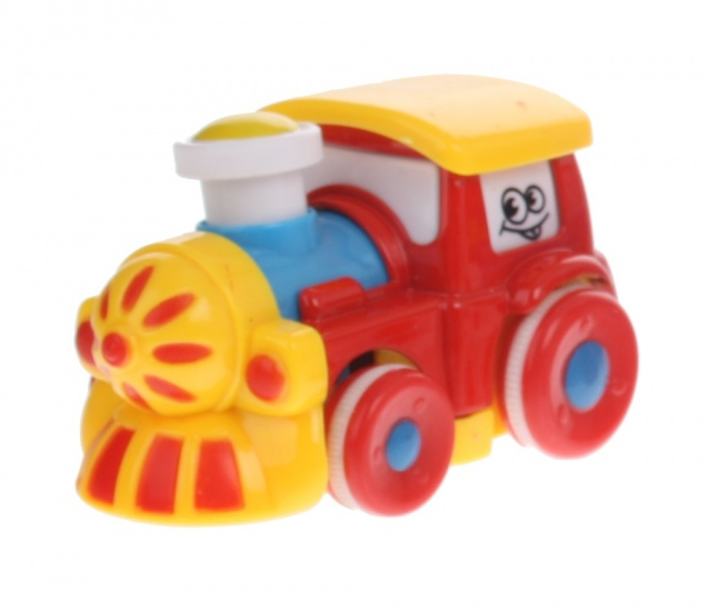 Eddy Toys Trein Rood 7,5 cm