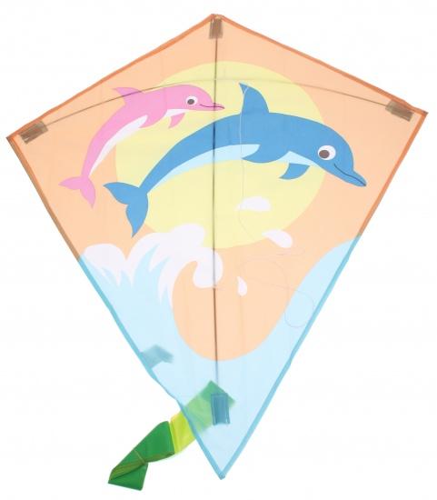 Eddy Toys Vlieger dolfijn 60 x 70 cm