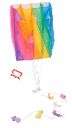 Eddy Toys Vlieger regenboog 60 x 51 cm 30 meter