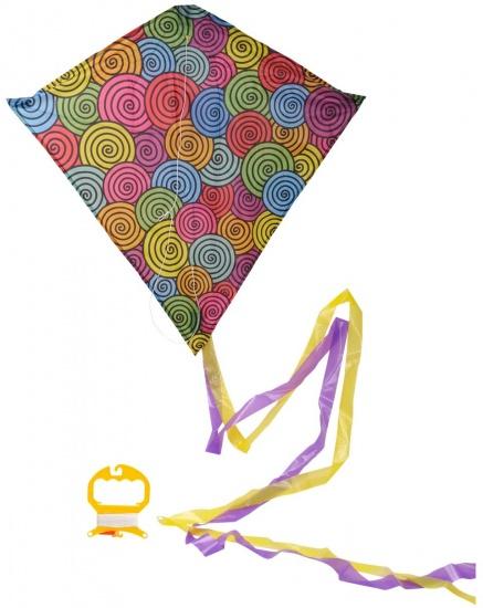 Eddy Toys Vlieger rondjes 63,5 x 69 cm
