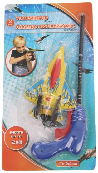 Eddy Toys Vliegtuigschieter F 22 geel