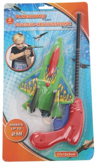 Eddy Toys Vliegtuigschieter F 22 groen